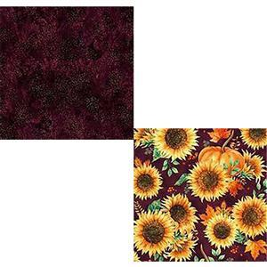 UNDER £15! - Hoffman Autumn Is In The Air Mulberry Fabric Bundle (1m)