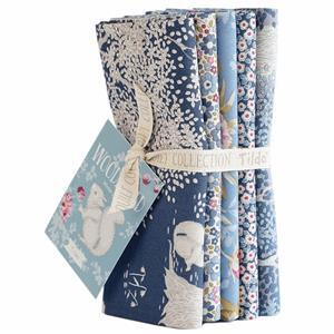 Tilda Woodland Fat Quarter Bundle Blue Pack of 5 Pieces