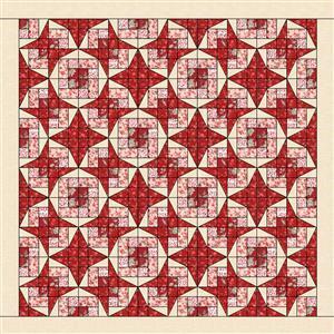 Sally Stevens Summer Stars Rectangle Quilt Kit: Instructions & Moda Fabric (7.5m)