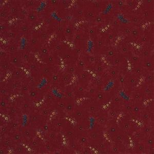 Moda Prairie Dreams in Red Leaf Spots Fabric 0.5m