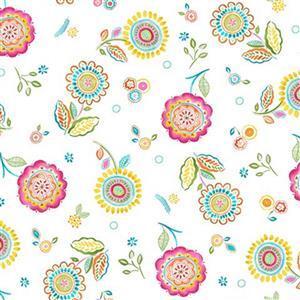 Happy Days in Roses Multi Fabric 0.5m