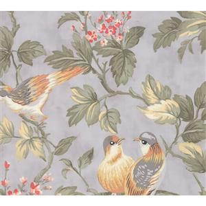 Moda Daybreak Birdsong on Silver Fabric 0.5m