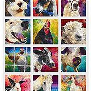 Noble Menagerie Animal Fabric Panel 0.91m