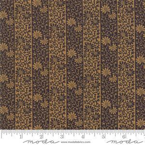 Moda May Morris Studio Stripe Twill on Ebony Fabric 0.5m