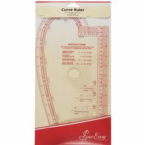Curved Ruler: 13.875 x 7.375in