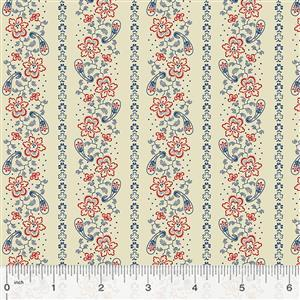Kingston Floral on Ivory Fabric 0.5m