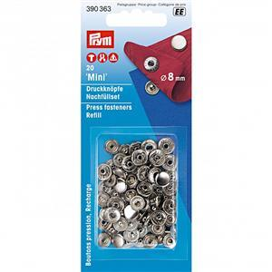 Prym Non-Sew Fasteners 8mm Silver-Coloured