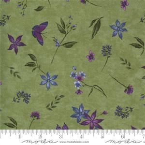 Moda Violet Hill in Green Petal Fabric 0.5m