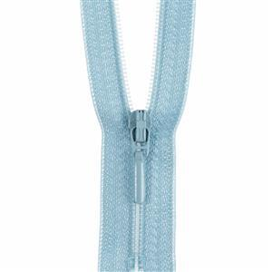 Pale Blue Closed End Zip: 45cm