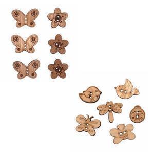 Summer Wooden Button Bundle (12 pieces)