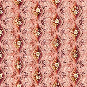 Henry Glass Tarrytown Diamond on Plum Fabric 0.5m