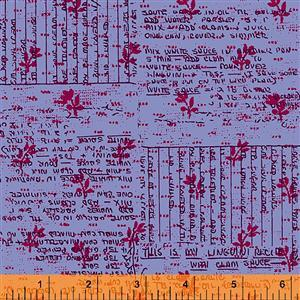 Norma Rose Recipe Cards on Lavender Fabric 0.5m