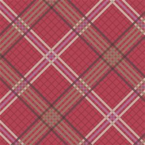 Lewis & Irene Loch Lewis Tartan On Red Fabric 0.5m