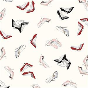 Couture Noir Shoes Fabric 0.5m