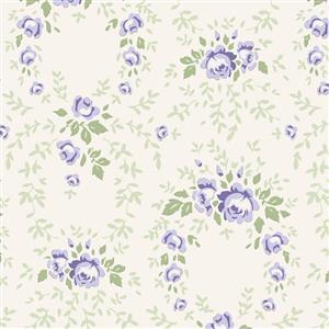Tilda Old Rose in Lucy Blue Fabric 0.5m