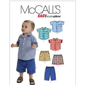 Infants' Shirts, Shorts And Pants Pattern