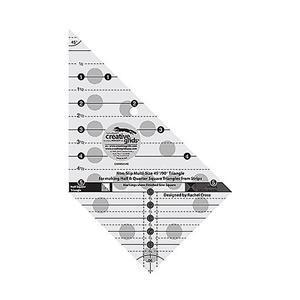 Creative Grids® Non-Slip Multi-Size 45°/ 90° Triangle