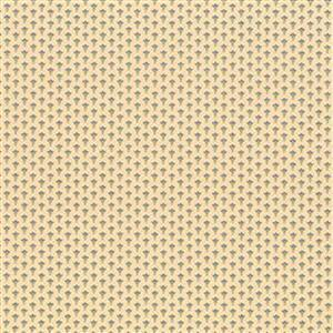 Henry Glass Esters Heirloom Shirtings Cream Leafy Rings Fabric 0.5m