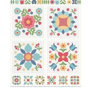Riley Blake Flea Market Fabric Panel 0.9m