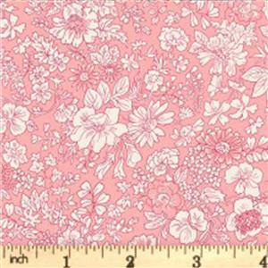 Liberty English Garden Collection Pink Emily Silhouette Fabric 0.5m