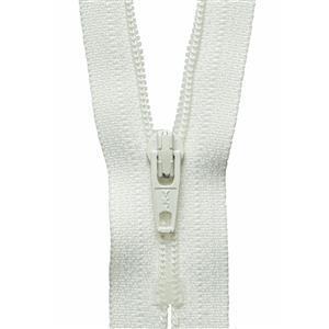 Cream Nylon Dress and Skirt Zip: 51cm