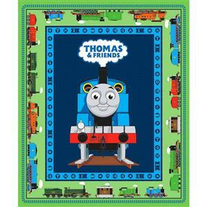 Riley Blake All Aboard With Thomas & Friends Green Panel 0.9m