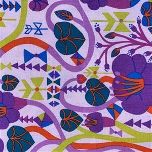Homeward in Purple Honeysuckle Fabric 0.5m