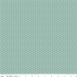 Riley Blake Tea With Bea Lake Honeycomb Fabric 0.5m