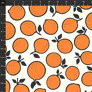 Squeeze Oranges Fabric 0.5m
