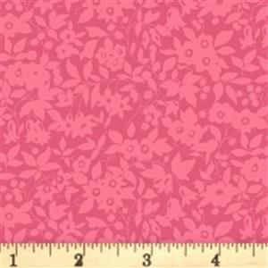 Liberty Cottage Garden Collection Red Daisy Shadow Fabric 0.5m