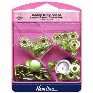 Heavy Duty Snaps Gold 15m