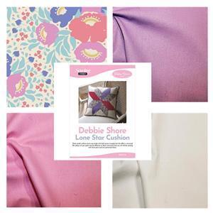 Debbie Shore's Tilda & Lilac Lone Star Cushion Kit: Instructions & Fabric (2m)
