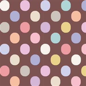 Tilda Plum Garden in Plum Dot Nutmeg Fabric 0.5m