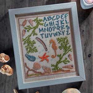 The Cross Stitch Guild Shoreline Sampler on Linen, Exclusive to Sewing Street until 1st March