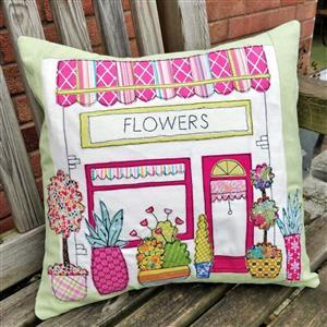 Helen Newton's Flower Shop Cushion Kit, Instructions, Fabric Panel, FQ & Fabric (0.5m)