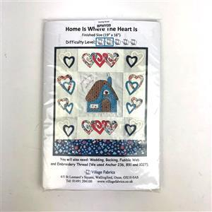 Village Fabrics - Home is Where the Heart Is' Wall Hanging Kit