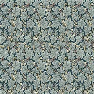William Morris Granada in Brambles Indigo Fabric 0.5m