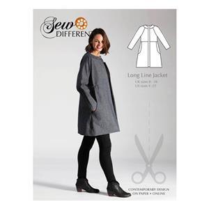 Sew Different Longline Jacket Pattern  Sizes 8-26