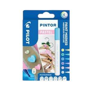 Extra-Fine Wallet of 6 Pastel Colours Fabric Pens