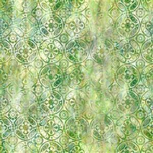 Jason Yenter Floragraphix V Olive Medallions Fabric 0.5m