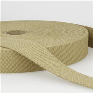 Tan Cotton Webbing 1m x 40mm