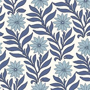 Liberty Hesketh House Collection in Blue Sweet Marigold Fabric 0.5m
