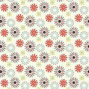 Riley Blake Oh Happy Day Coral Cream Fabric 0.5m