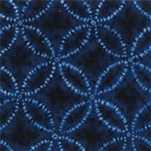 Sakuru Deep Blue Shippō Fabric 0.5m