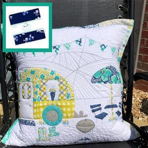 Delphine Brooks' Riley Blake Happy Camping Cushion Kit: Instructions, Charm Pack & Fabric (0.5m)