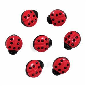 Ladybird Buttons Pack of 7