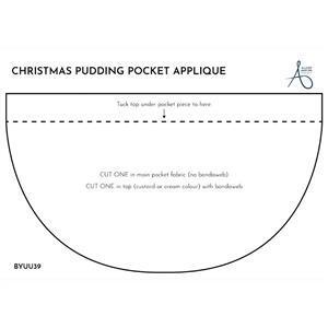 Allison Maryon's Christmas Pud Applique Template