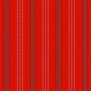 Zoo Around Modern Stripes On Red Fabric 0.5m