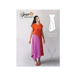 Sew Different Flounce Dress Pattern: Sizes 8-26