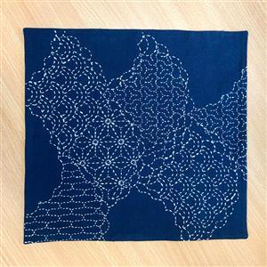 Sashiko Cumulus Cloud Fabric Panel 30x30cm (12 x 12